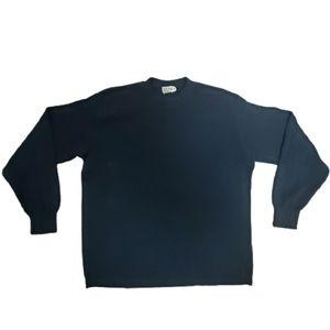 J Crew Mens Black Cotton Crewneck Sweater Small